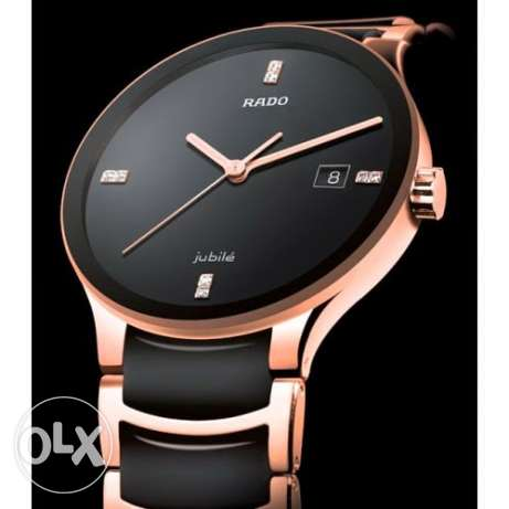 rado watches- 1st copy- black with bronze - for gents