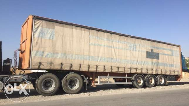 For sale curtain trailer German