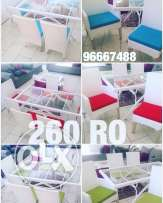 dinning table and chair rattan