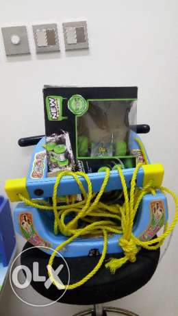 Baby swing and toy car