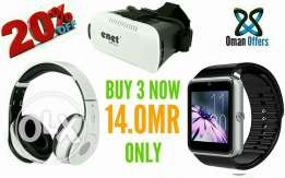 3 in 1 Offer all High Quality smart watch and Vr Glasses And headphone