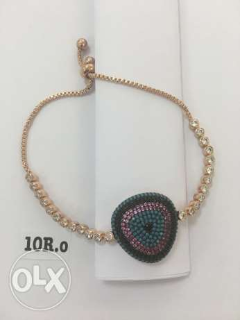 new bracelet colored by gold 10 - 9 - 8 R.o اساور يد
