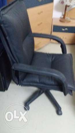 executive chair for study leather type black