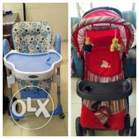Baby chair and baby stoller