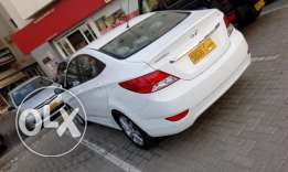 Hyundai Accent Crystal White 2015 Model- 27000 kms