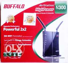 WiFi Buffalo Extnder/AP Hi-Power Japan 2xAntena VPN مقوي الواي فاي مع