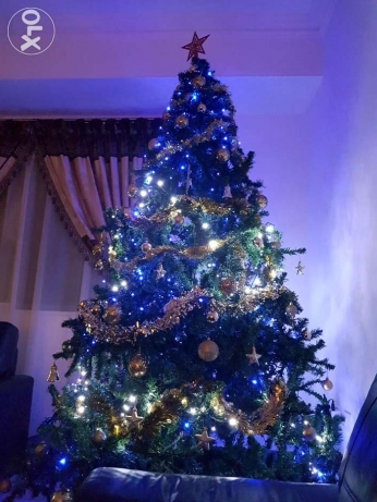 Lovely Christmas Tree (6ft) with Decorations & 3 Sets of Xmas Lights