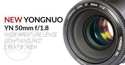 YN 50mm lens for canon