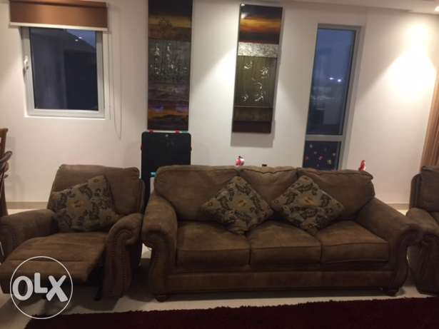 perfect condition 3 seater leather sofa - 2 yrs. old