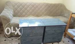 Sofa and drawers for sale