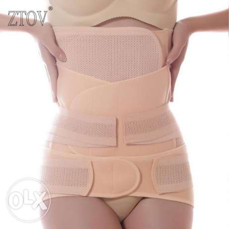 post partum belt for women- 3 pieces set مسقط -  1