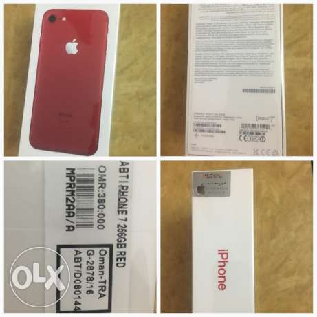 Brand new iphone 7 Red 256 GB for sale