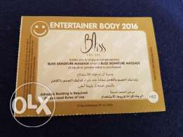 Massage voucher at Bliss the spa