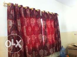 4 curtains rod only 6 OMR