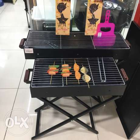 BBQ equipment grill can floding with cover for outdoor activities