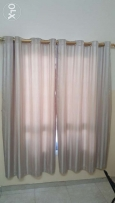 Curtains with rods...for seven windows