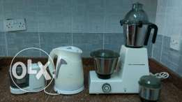 Mixer grinder, electric kittle, and onion chopper