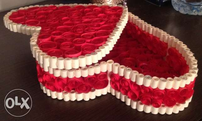 Quilling heart box