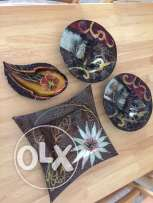 set of 4 decorative bowls/platters for quick sale