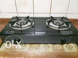 Geepas Stove 2 Burner and Gas Cylinder