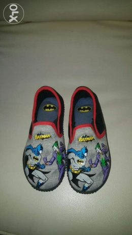 A pair of Batman & joker soft shoes from marks & Spencers size 33