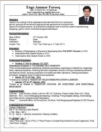Electronics Engineer, 2 Year Experience, Looking for Job.