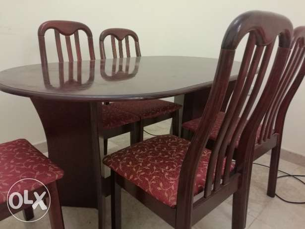 Dining Table with 5 Chairs purchased in Apr 2016