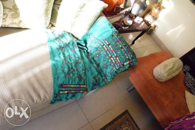 handmade balochi embroidery and sheesha-work cloth unstitched مسقط -  3