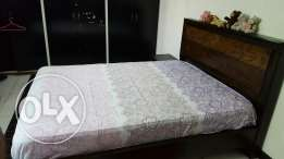 Queen size bed with 2 side tables