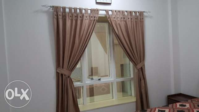 Excellent Curtains + Extendable Rod for sale ( expat leaving)