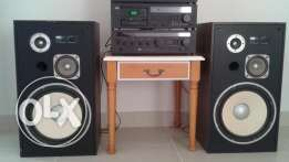 Sansui Cassette deck and Amplifier with Speakers