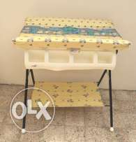 Baby bathing table for showering and changing.