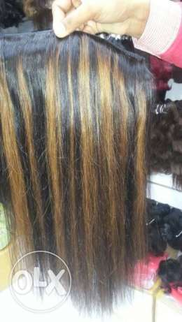 human hair extension - with high light- 70cm