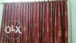 Full height Red Curtains for sale