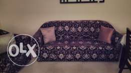 Six seat wooden dinning table,five seater sofa set, TV console shoe