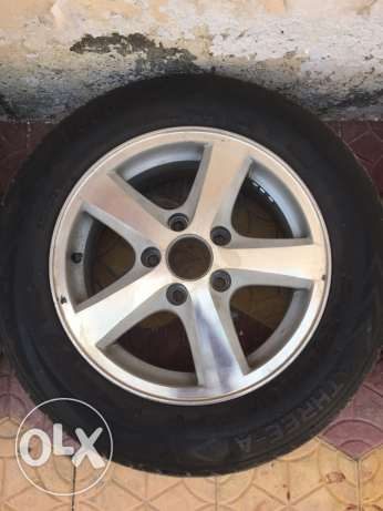 "14"" alloy wheels with tyres"