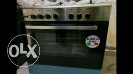 Brand New GLEMGAS Made in Italy 5 Burner Full Safety Cooking range