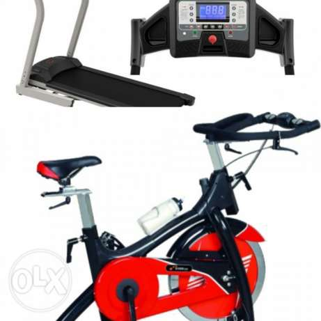 Offer Spinning bike and Treadmill