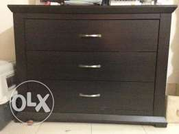 Large dark wood and beautiful chest of drawers