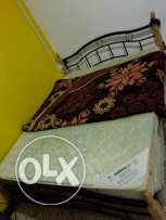 Queen size Cot + Standard full medicated bed for sale in Al khuwair
