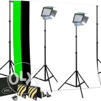 3 led video stands