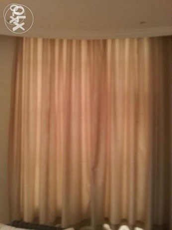 Large Tan Curtains- Formal