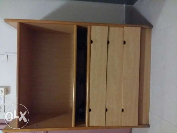 Book shelf and drawers