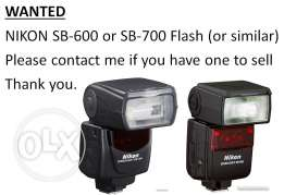 WANTED - Nikon SB-600 / 700 Flash Unit