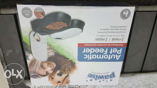 2 meals automatic pet feeder