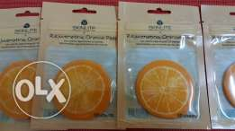 orange refreshing facial pad- 10 pieces in 1 packet