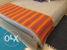 Cotton striped bed runner