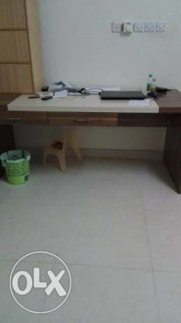 table... very new... one year old...
