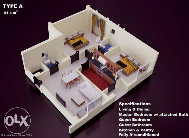 Flats for Sale in Maabelah (READY FOR OCCUPANCY) مسقط -  2