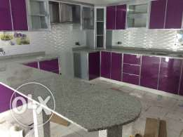 Aluminum kitchen and cabinets